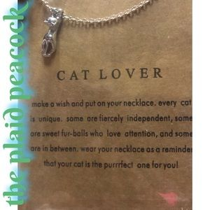 Cat Lover Necklace & Saying Card